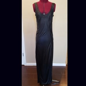 Helmut Lang black maxi dress size small